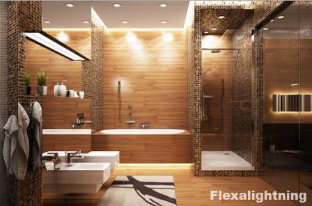 Idee per illuminare lo specchio del bagno con lampade e - Luce soffitto bagno ...