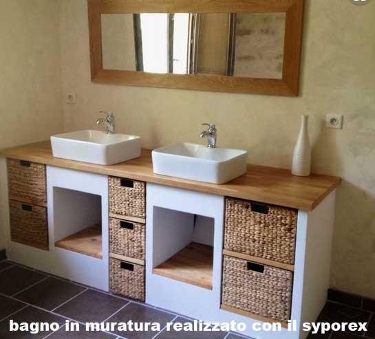 Bagno muratura syporex idee bagno for Arredo bagno in muratura