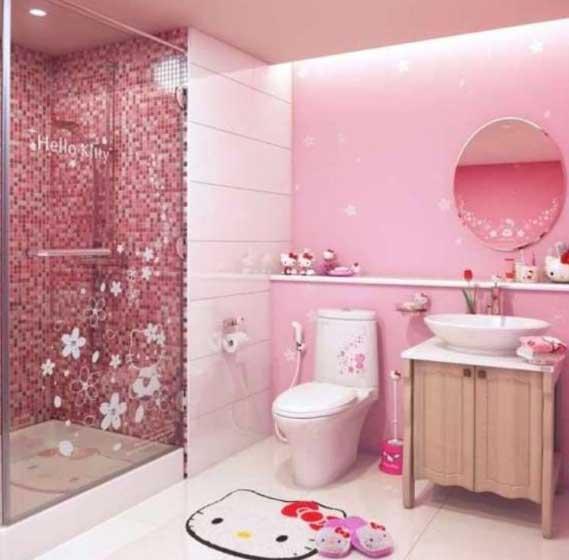 idee per un bagno rosa come realizzarlo - idee bagno - Bagni Moderni Rosa