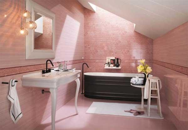 Piastrelle bagno rosa piastrelle rosa bagno arredi con pavimenti