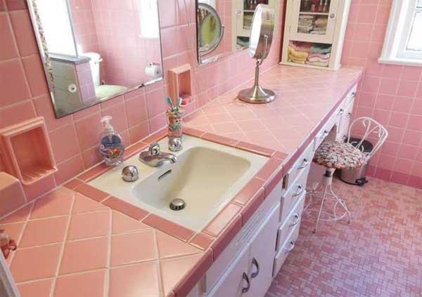 idee archivi - idee bagno - Arredo Bagno Colore Rosa