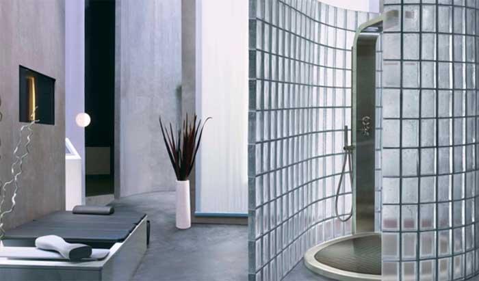 Pareti in vetrocemento per bagni 10 idee meravigliose - Piastrelle vetrocemento ...