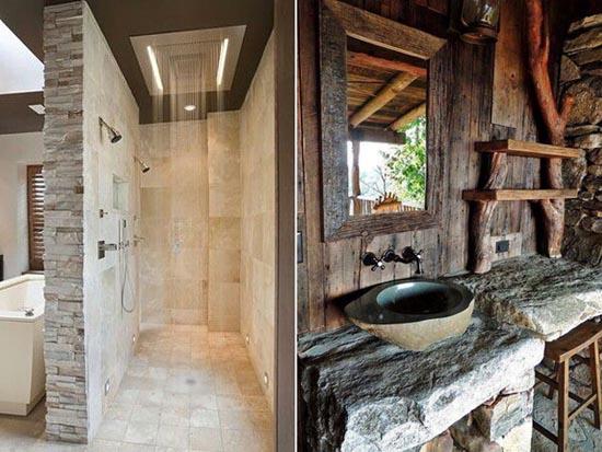 Idee bagno in pietra naturale e ricostruita - Bagno in pietra ...