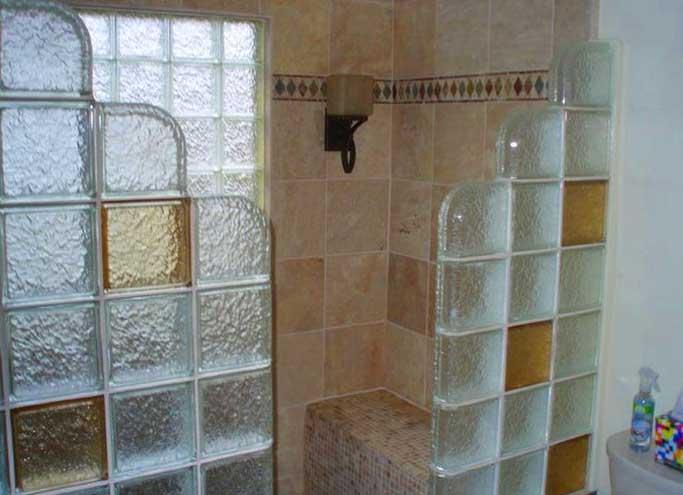 Pareti in vetrocemento per bagni idee meravigliose idee bagno