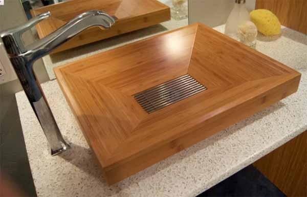 Lavandino di design in legno idee bagno for Lavandino design